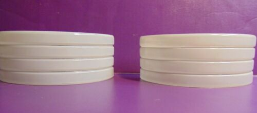 """2 8"""" VINTAGE ANTIQUE WHITE GLASS WALL SCONCE SHADES ART DECO"""