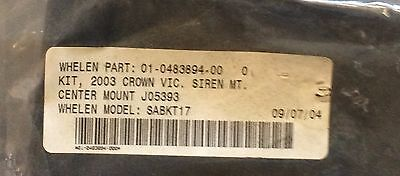 Whelen Sabkt17 Fits 2003 Up Crown Victoria Speaker Bracket