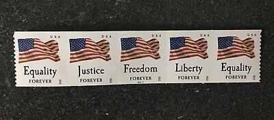 2012USA #4637-4640a Four Flags 2012 Forever Coil (SSP) Strip of 5 PNC   (#S2222)