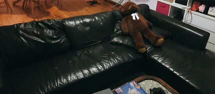 Moving Sale Real Leather Sofa