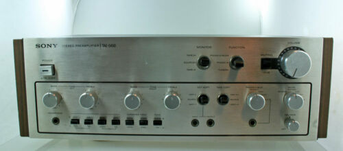 SONY TSE-5450 Stereo Preamplifier RECapped Power Supply Cleaned Sweet Sounding