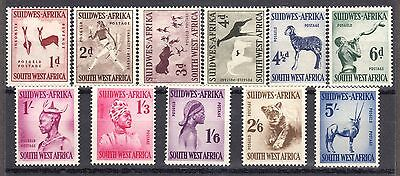 South West Africa Scott  249 260 Mint Hinged Original Gum Issue Of 1954
