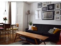 Retro danish style mid-century three seat sofa