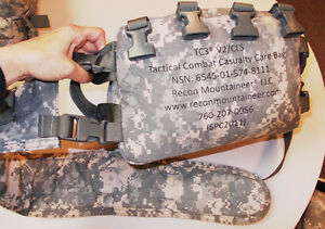 New Recon Mountaineer Combat Casualty Care Bag TC3 - V2/CLS ACU WITH Supplies