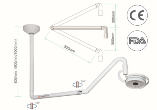 36W Ceiling LED Shadowless Lamp Surgical Medical Exam Light FDA