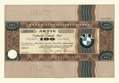 Für Fortgeschrittene - eine seltene BMW Aktie von 1952 - max. 5 Stücke bekannt und die erste Apple-Aktienversion