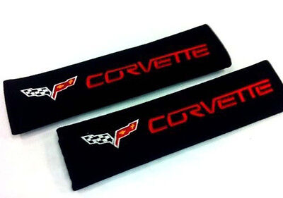 Corvette Seat-belt Covers Shoulder Pads (2) Car Safety Cushion harness soft NEW
