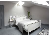 Ikea Hemnes White Double Bed & Bedside Tables