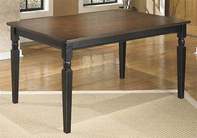 تربيزه جديد Ashley Owingsville Cottage Style Two Tone Finish Rectangular Dining Table New