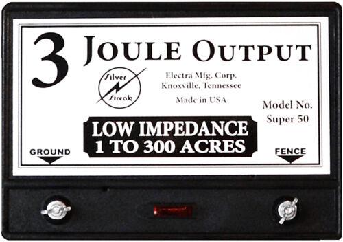 Fence Charger Super 50 3-Joule / Free Lightning Diverter & 5J< Lightning Fuse