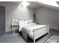 IKEA Hemnes Solid Wood Large Double Bed & Bedside Tables