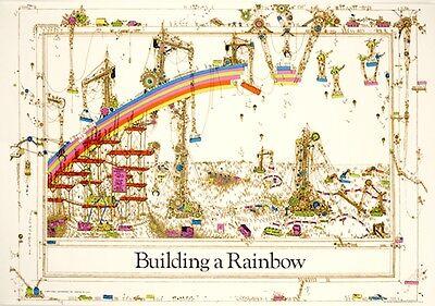 1970s RETRO BUILDING A RAINBOW POSTER PRINT 36x24 NEW FREE (Retro 1970s)