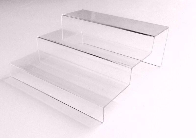 Acrylic Riser Plexiglass Step Display Transparent Tiered Riser Jewelry Stand