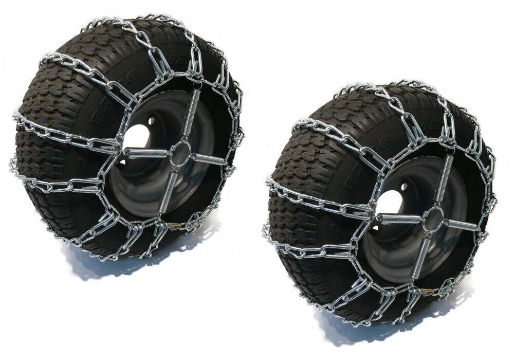New PAIR 2 Link TIRE CHAINS 20x9x8 21x7x10 for UTV ATV 4-Wheeler Quad Vehicle