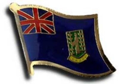 Wholesale Pack of 50 British Virgin Islands Country Flag Bike Hat Cap lapel Pin