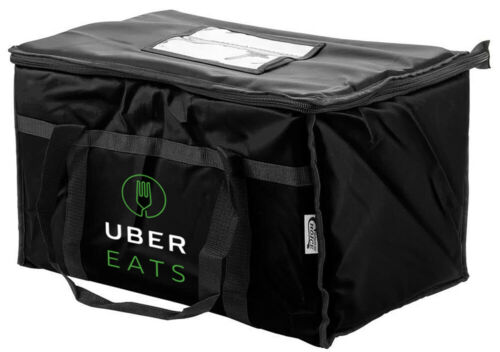 Uber Eats 23x14x15 food delivery bag, foam padded interior