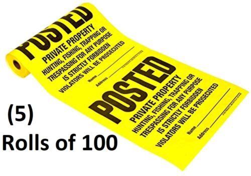 "500 HY-KO ""POSTED PRIVATE PROPERTY "" No Hunting No Trespassing Signs TSR-100"