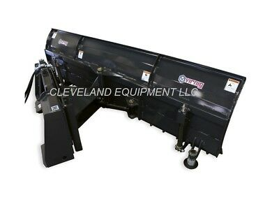 New 84 Virnig Snow Plow Blade Attachment John Deere Cat Case Skid Steer Loader