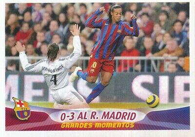 081 RONALDINHO Vs REAL MADRID 0-3 # FC.BARCELONA STICKER PANINI SUPER BARCA...