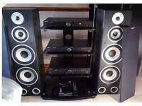 TIBO TI410 Hifi System with Bluetooth (Amp, CD & DAB) - 400W Floor Speakers