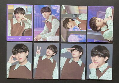 BTS-LOT OF 8 SOWOOZOO 2021 MUSTER OFFICIAL MINI PHOTO CARD SET TAEHYUNG DBALL