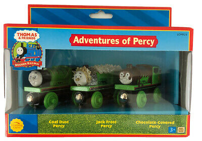 NEW Thomas & Friends Wooden Railway Adventures of Percy 3 Piece Set LC99123 RARE