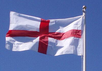 ALL SEWN CROSS OF STGEORGE FLAG 5' X 3' CANVAS SLEEVE ENGLAND FLAG UK SELLER