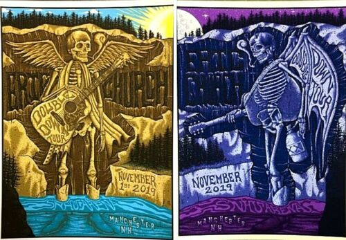 Eric Church Manchester NH Nov 1st 2019 AP Set of Both Signed Poster Prints #/35