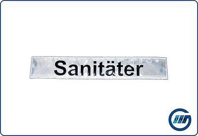 """Rückenschild DRK Rettungsdienst """"Sanitäter"""" mit Klett 30 x 5cm B-Ware"""