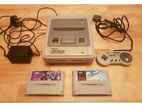 Super Nintendo SNES Console - Controller - 2 Games