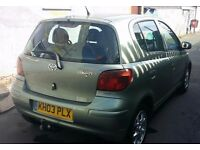 Toyota Yaris 2003.5 dr Auto.One year MOT.Good condition, Sunroof,Navigation,Tow-bar.