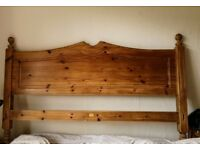 FREE *** Wooden headboard for double bed