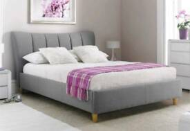Sienna upholstered king size bed inc mattress