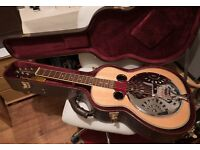 WECHTER SHEERHORN ROB ICKES SQUARE NECK RESONATOR GUITAR,CASE IMACULATE CONDITION.