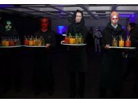 7 x LED Black Perspex Cocktail Trays with luminescent lit edge & battery pack RRP £840.00 STUNNING