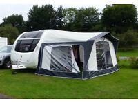 Bradcot Concept Caravan Awning. Size 810cm blue/grey colour, reflective roof.