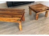 Coffee Table Oak and Side Table Oak