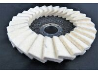 Flap Felt Discs 125x22 5 Polishing Angle Grinder Buffing Wheel Metal Alloy Best Price Best Quality