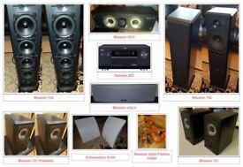 Yamaha dsp AZ-1 amplifier, Mission 751, 752, 753, 75c speakers 8.1 setup