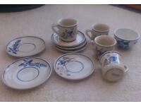 Ceramic saucers/ mugs/ bowl (Viana do Castelo, Portugal pottery)