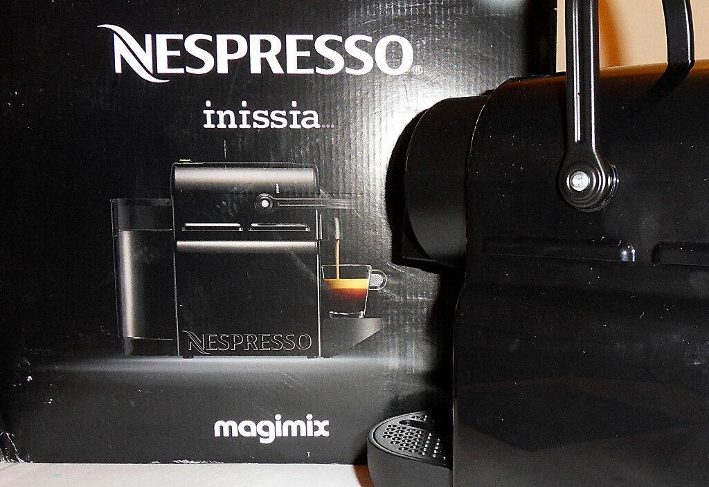 Black Nespresso Inissia Coffee Machine by Magimix - Unpacked ...