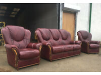 Pagnini Milano 3+1+1 Italian leather sofas, suite, couch DELIVERY AVAILABLE
