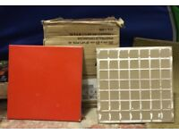 NEW, not out of the box, red tiles, 20x20cm. Box full (40) plus 1.