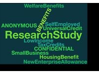 Self- Employed and on benefits? Would you take part in our study?