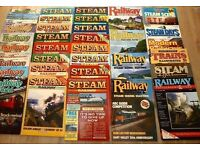 1980s STEAM RAILWAY MAGAZINES - 36+ VARIOUS TITLES