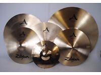Zildjian A Custom Cymbal Pack (6 cymbals) with Travel Case £1000