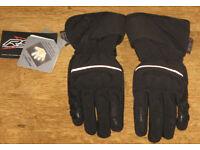 New RST Shadow Black waterproof motorcycle gloves - M