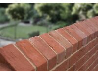 TRIANGULAR RECLAMATION SOFT RED COPING BRICKS = £4.75 EACH.