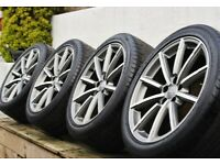 "Genuine Audi 19"" S Line Black Edition Alloy Wheels 5x112 A3 Q2 Q3"