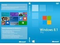 Windows Win 8.1 Pro 64bit UK Re-Install Repair Restore Recovery Boot Disc DVD